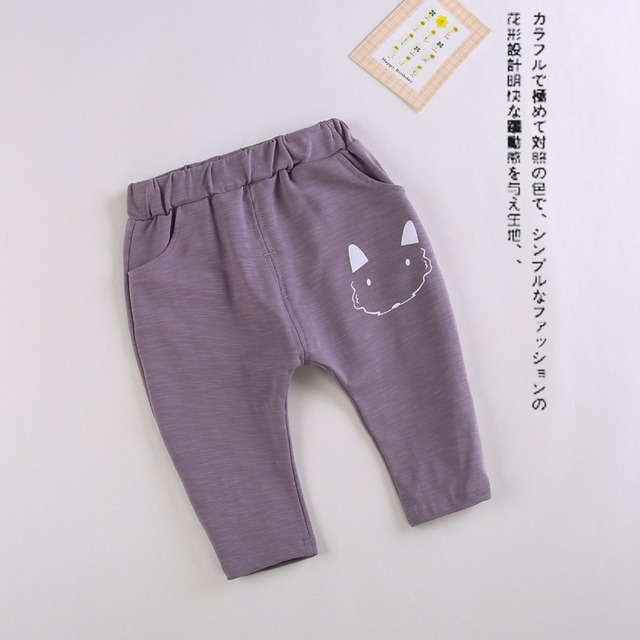 2017 New Spring&Autumn Baby Pants 4 Colors Cotton Star Pattern Kids Pants Baby Girls And Baby Boy Pants