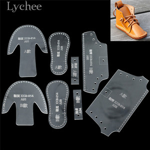 Lychee Life Mini Shoe Design Acrylic Sewing Pattern Boot Hanging Pendent Template DIY Leathercrafts Template