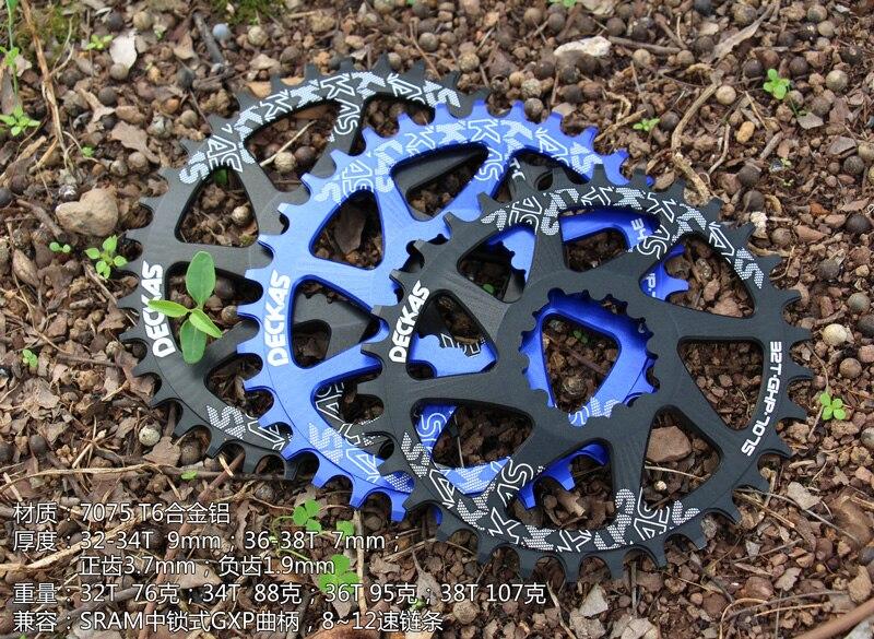 Цена за DECKAS GXP Шатуны Велосипедов Горный Велосипед 32 Т 34 Т 36 Т 38 Т Овальные звезду для Sram XX1 XO1 X1 GX XO X9 шатуны MTB части