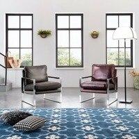 Moderno Acciaio mobili sedia di svago Divano set soggiorno barocco sedia Divano sedia Balcone sedia divano reclinabile