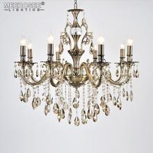 цена Classic Crystal Chandelier Light Luxury Fixture Good Quality Lustre Suspension Lampara de techo Dining room Living room Lighting онлайн в 2017 году