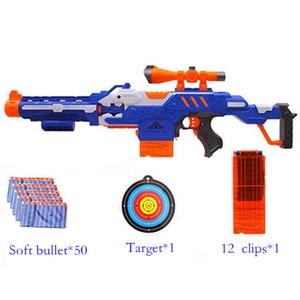 Image 2 - Elektroniczny Submachine pistolet zabawka garnitur dla NERF miękki pocisk Gun Rival Elite Series zabawy na świeżym powietrzu i sportowe zabawki prezent dla dzieci chłopców prezent
