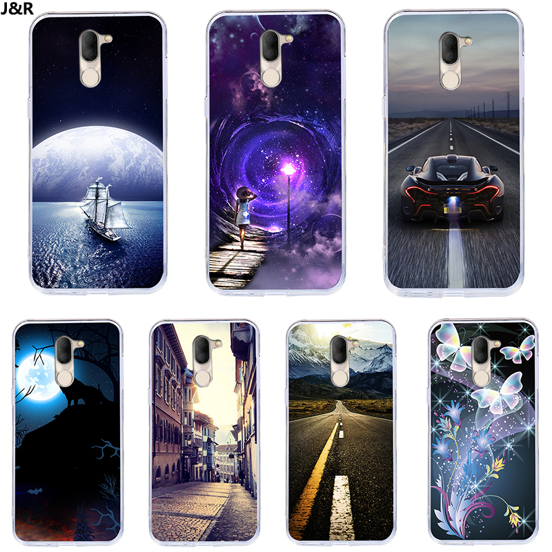 J&R Fashion Starry Sky Phone Case For Alcatel 1X 1C 1 3 3C 3X 3V 3L 5 5V A3 A7 XL Plus Soft TPU Silicone Back Cover Cases