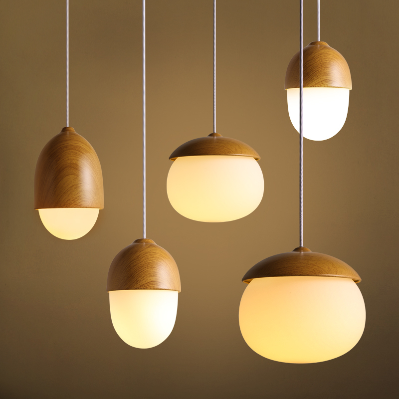 ФОТО Nordic Wood Vintage Industrial Edison Glass Pendant Ceiling Lamp For Cafe Bar Hall Club Store Restaurant Balcony Gallery