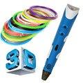 Presente de natal Criativo Caneta Desenho da pena de Impressão 3D Caneta Impressora 3D DIY Melhor para o Presente Dos Miúdos com ABS Filamento 1.75mm