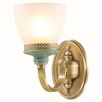 Sotão americano Sala lâmpada de Parede Lâmpada de Cobre Do Vintage Fosco Sombra De Vidro Branco de Cerâmica Quarto Cabeceira Arandelas de Parede