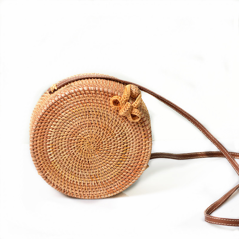 все цены на 2018 Round Straw Bags Women Summer Rattan Bag Handmade Woven Beach Cross Body Bag Circle Bohemia Handbag Bali