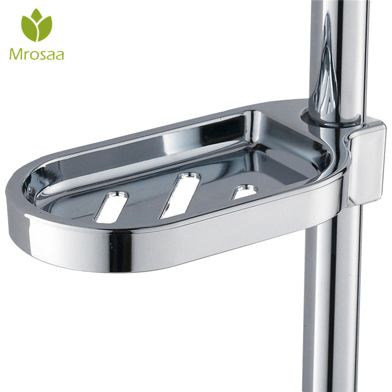 Mrosaa Soap Dishes 25mm ABS Soap Plates Bathroom Soap Storage Rack Drain Shower Hose Supply Soap Dish Kitchen Sponge Holder