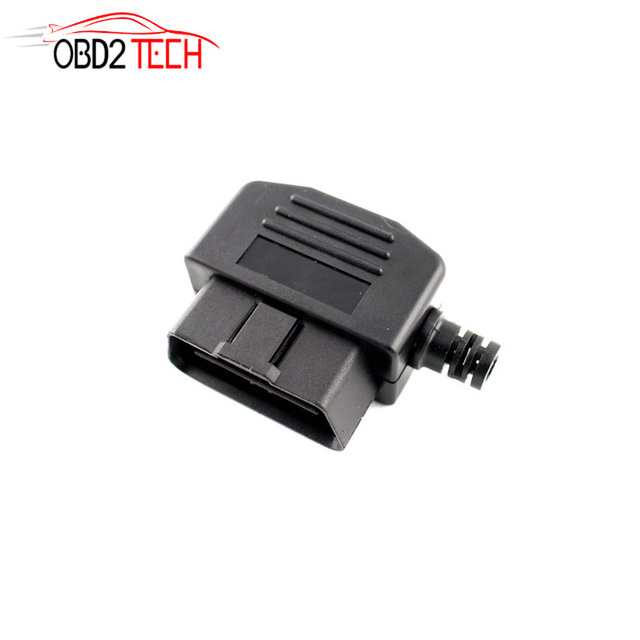US $5 09 10% OFF| DIY Shell Adapter OBD2 Connector Plug 16 Pin OBD II OBD 2  Diagnostic Male Terminal Connector Plug-in Engine Analyzer from