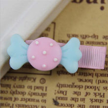 Cute Candy Dot Bowknot Hair Clips Baby Girl Hairpin Child Hair Accessories dress cosplay dance and party 13(China)