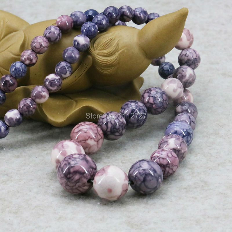 New Crafts Tower Necklace Chain Stone Riverstone Rain Flower Rainbow 6-14mm Fashion Jewelry Making Design For Women Girls 18inch