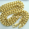 18k yellow gold GF curb ring link solid mens women long necklace jewellery N223
