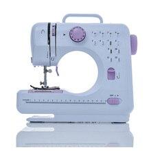 Fanghua Mini 12 puntadas máquina de coser hogar multifunción rosca doble y velocidad libre de brazo artesanía Mending LED