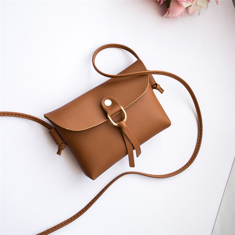 HTNBO Handbag Bag Female Solid Bags for Girls Hasp Women Fashion Cover Tassels Crossbody Bags Shoulder Bag Phone Coin Purse