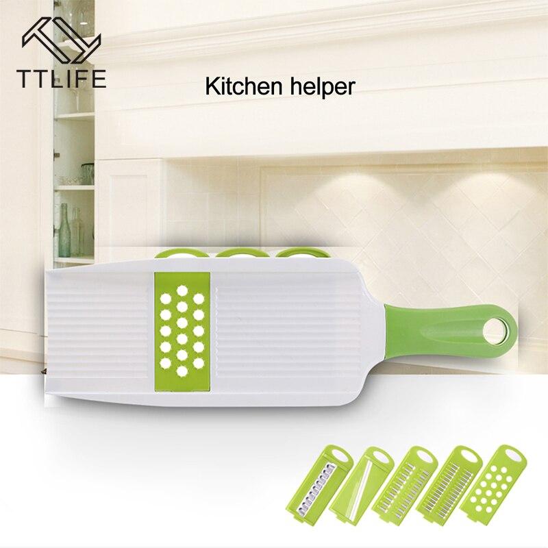 TTLIFE Küche tragbare Mandoline Slicer Gemüseschneider mit 5 - Küche, Essen und Bar - Foto 6