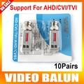 10Pairs Enhanced Twisted BNC CCTV Passive Transceivers UTP Video Balun BNC Cat5 Support Distance 200M HDCVI/AHD/HDTVI Camera