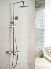 Wall Mounted Chrome Finished Rain Brass Bathroom Shower Set Shower Column  Bath Shower Set with ABS Handheld Shower HeadPopular Rain Handheld Shower Head Buy Cheap Rain Handheld Shower  . Tropical Rain Shower Head. Home Design Ideas
