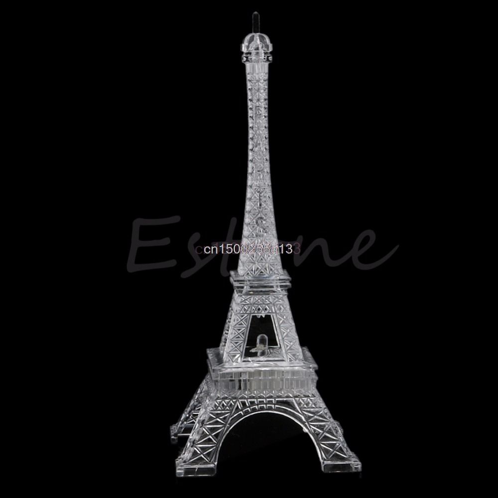 1pc Night Light Lovely Eiffel Tower Night Light Cute LED Lamp Desk Bedroom Decor Small Lighting