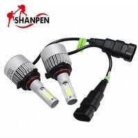 2Pcs S2 9005 9006 LED H3 H4 H7 H8 H11 COB Chip H13 Auto Car Headlight