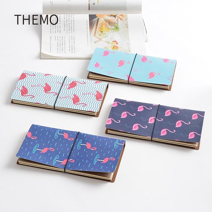 Japanse Kawaii Leuke Flamingo Cartoon DIY Notebook PU Leer Gebonden - Notitieblokken en schrijfblokken bedrukken - Foto 5