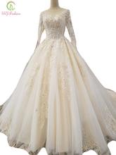 Robe de mariée haut de gamme à manches l ...
