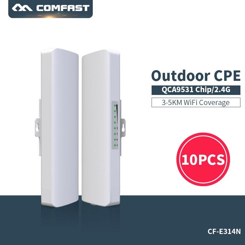 Pont wifi extérieur haute vitesse Comfast CPE 300 Mbps 2.4G wi-fi 2 * 14dbi antenne 2-3 k longue portée sans fil AP routeur point d'accès cpe