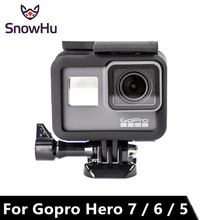 Go pro Hero 5 New Gopro Accessories Black Protective Frame  + Quick Release Buckle Base Aircraft screw for LD03