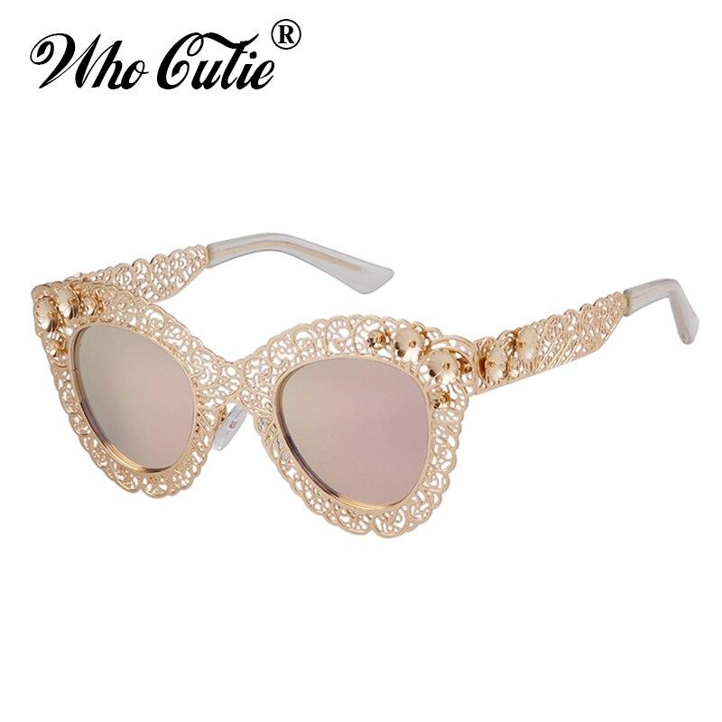 , Die Cutie 2018 Luxus Cat Eye Übergroße Sonnenbrille Frauen Marke Designer Retro Vintage 80 S Barock Cateye Sonnenbrille Shades 670 Noch Nicht VulgäR