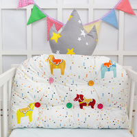 3D Crown Shape Cotton Infant Bumper Baby Bedding Set 1pcs Removable Baby Items With Fastener Baby Bed Bumper For Height 60-70cm