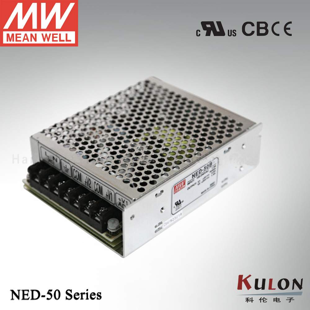 Genuine Meanwell NED-50A 50w Dual output  5V 1.0~6.0A 12V 0.3~3.0A mean well power supply hamlet ned r