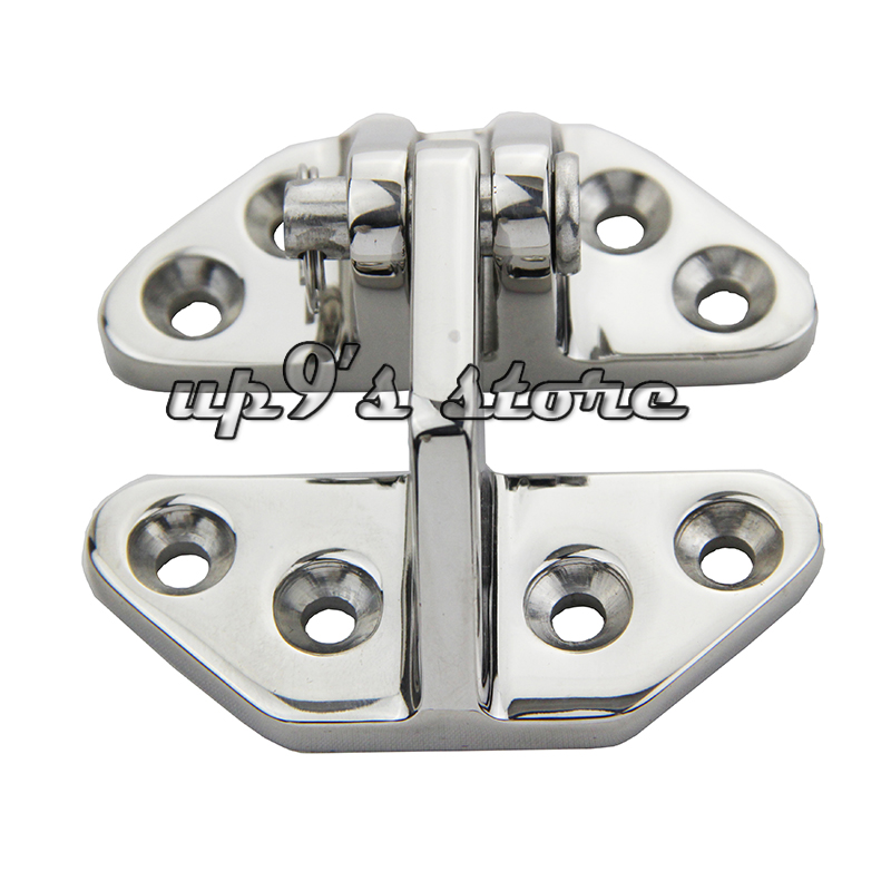US $14 97 25% OFF|316 Stainless Steel Marine Boat Hardware Hatch Hinge with  Removable Pin 2 5/8