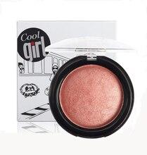 Professional 1PC Brand Baked Blush Powder Palette Face Makeup Bronzer Cheek Color Blusher Palette Beauty Compact Powder New