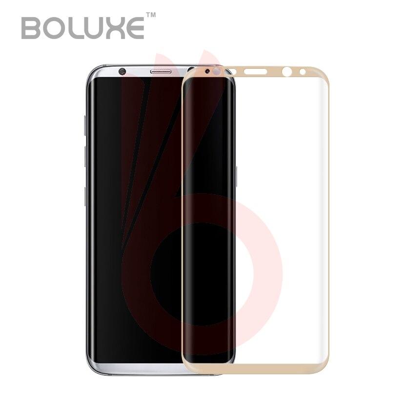 imágenes para 50 Unids/lote Para Galaxy S8 S8 Curva 3D Protector de Pantalla de Cristal Templado + Borde Borde S6 S7 S8 plus, Además de La Cubierta Completa de Protección Película
