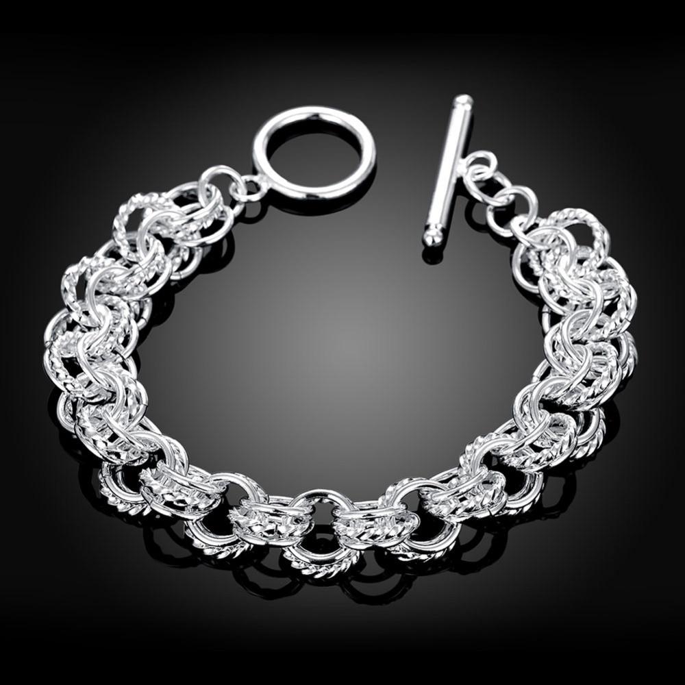 BALMORA Hot Silver Plated Bracelets about 20cm Long Silver Charm ...