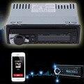 12 V Bluetooth V2.0 Car Audio estéreo en el tablero simple Din receptor FM receptor entrada Aux para USB SD MP3 MMC WMA reproductor de Radio