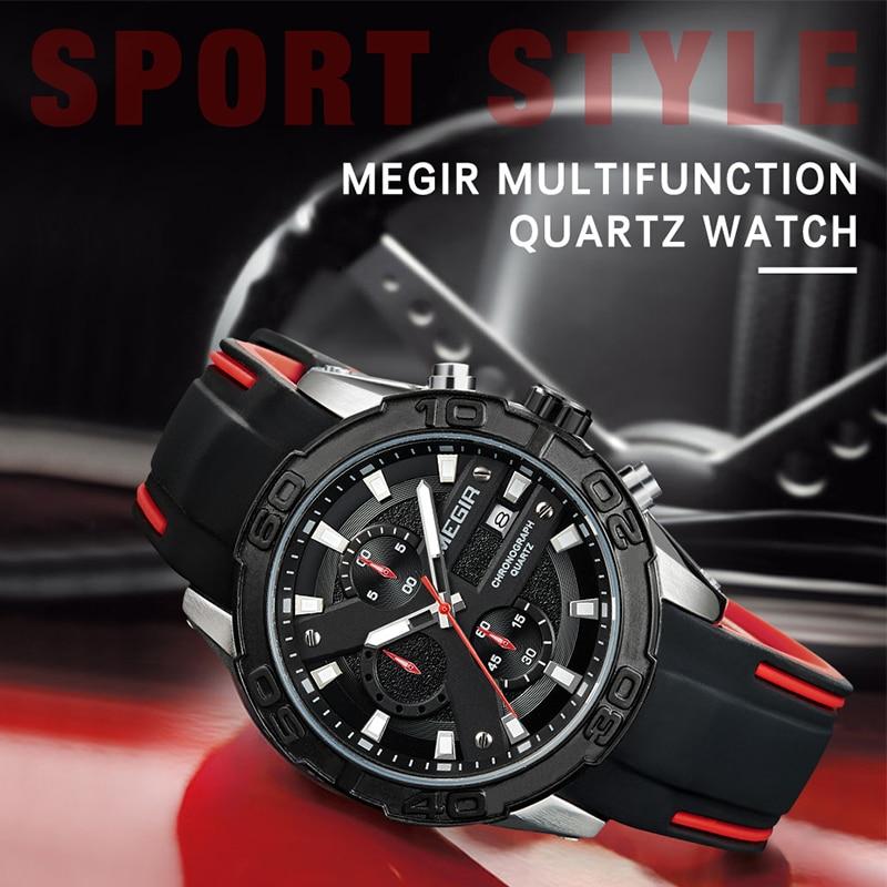 MEGIR Men Fashion Casual Quartz Wristwatches Military Sports Watches Men's Luxury Brand Waterproof Clock Male Relogio Masculino