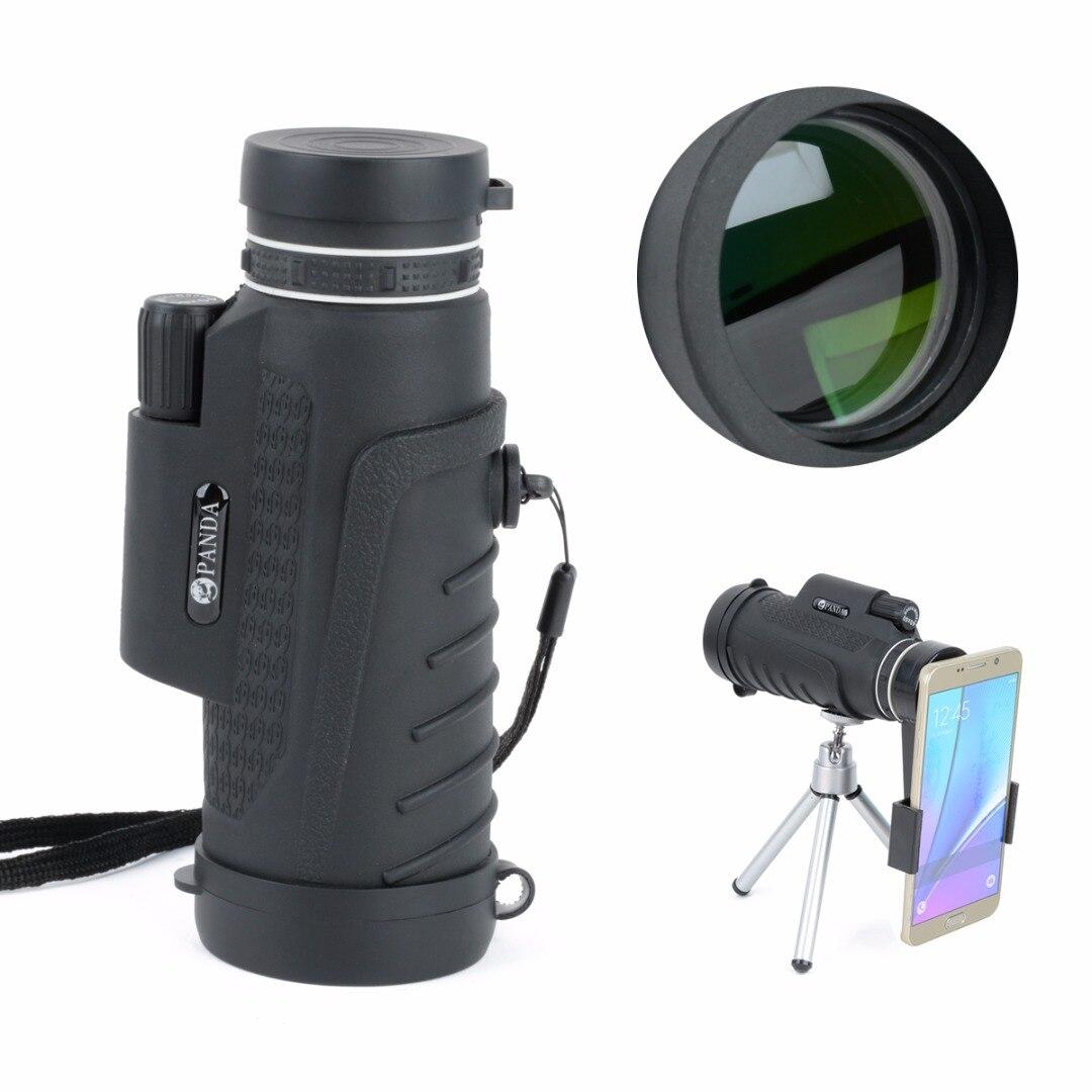 Mayitr di Alta Qualità 40X60 HD Teleobiettivo Zoom Telescopio Monoculare Con La Clip + Treppiedi Per Il Telefono Mobile