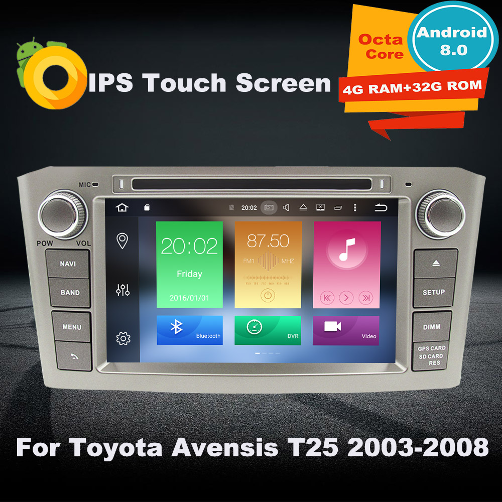 4G RAM Android Car DVD GPS Multimedia Player For Toyota Avensis T25 2003 2004 2005 2006 2007 2008 Auto Navigatio radio Stereo сланцы molokai