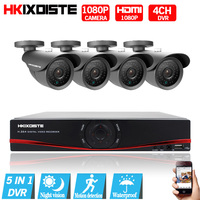 Cctv 4CH 1080P DVR NVR HVR CCTV System 2 0MP Outdoor AHD Camera HD 1080P