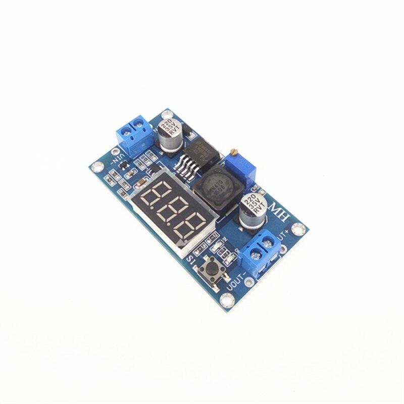 цена на DC-DC adjustable voltage regulator module LM2596 voltage regulator module band voltmeter