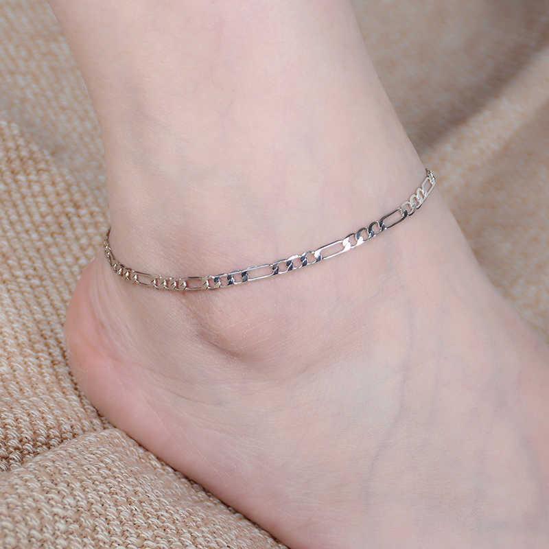 נשים פשוט זהב כסף שרשרת עכס קרסול צמיד יחף סנדל חוף תכשיטי רגל אבזרים