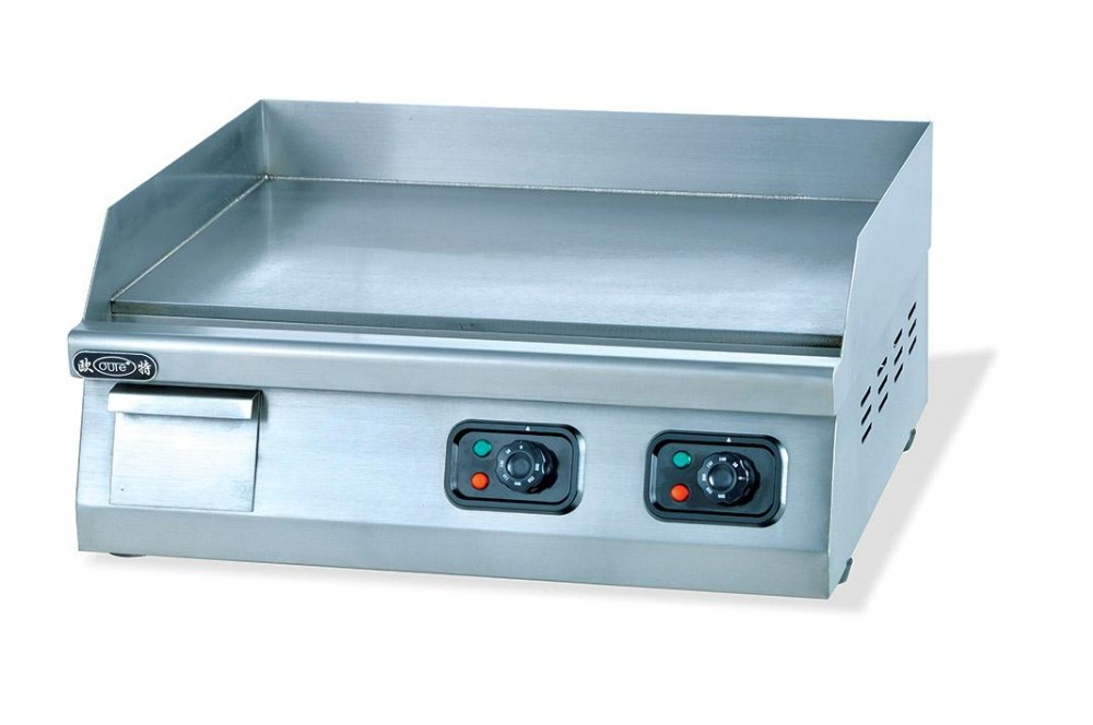 High Quality Full Stainless Steel Restaurant Counter Top Flat Eletric Griddle 220v Kitchen Frying Equipment Factory Sale