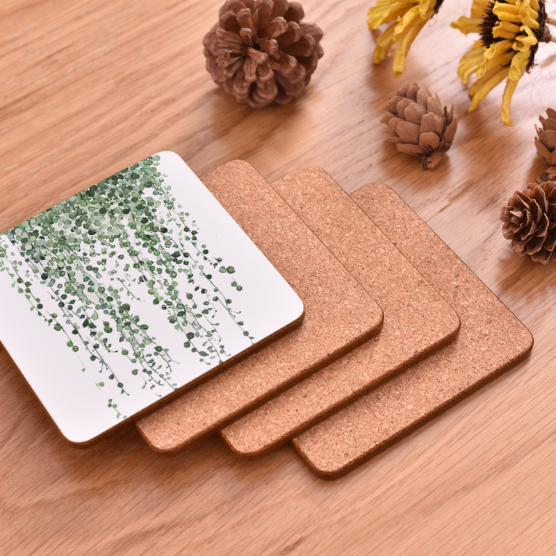 100PCs CFen A's Plant Printing Wood Coaster Cup Pad Non slip Heated Mat Coffee Tea drink Coasters Brand Mat hand painted - 5