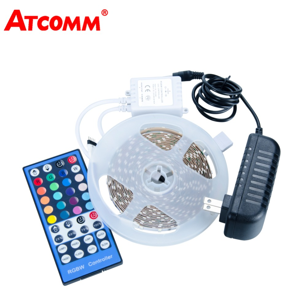 5M 3014 RGBW LED Strip Light 216 LEDs/Meter LED Diode Ribbon Tape Light With 40 Key RGBW Controller DC 12V 3A Power Adapter
