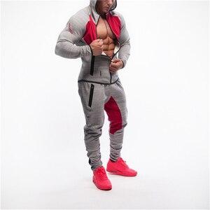 Image 5 - Sudadera de culturismo para hombre, Sudadera con capucha para gimnasio, entrenamiento con capucha, chaqueta con cremallera para hombre, ropa deportiva informal de marca, Tops