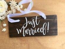 Just Married Sticker Board Decoration Rustic Wooden Wedding Beauty Fashion Modern Poster W382