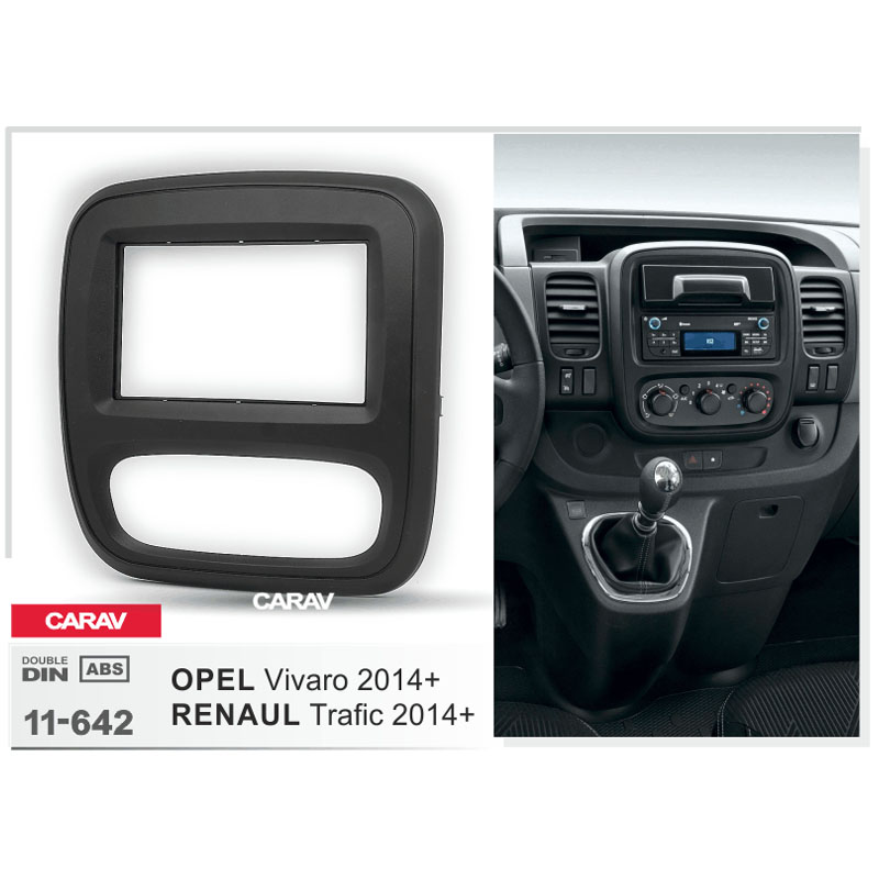 CARAV11-642 rosto Kit facia surround guarnição estéreo rádio do carro para OPEL Vivaro/RENAULStereo instale guarnição fit Traço facia surround kit