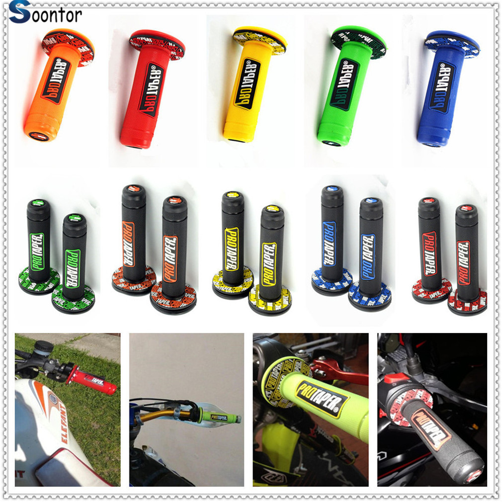 Handle Grip Motorcycle Dirt Pit Bike Rubber Gel Hand Grips FOR YAMAHA YZ80 85 YZ125 250 YZ250F YZ426F 450F YZ250X 1000S|Grips|   - AliExpress