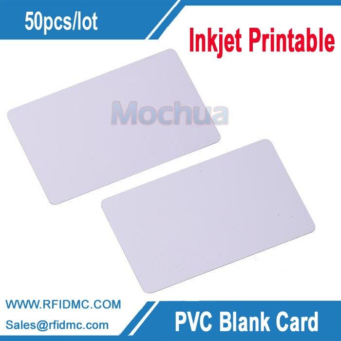 PVC card,PVC inkjet printable Card for Espon printer, Canon printer 200pcs lot printable pvc contact smart ic blank card sle4428 chip with magstripe for epson canon inkjet printer