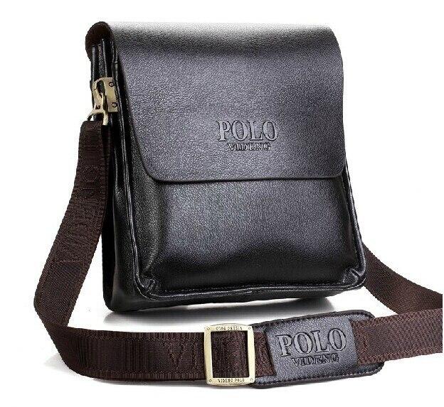 2016 nuevos hombres de moda bolsas Crossbody de la PU bolso de cuero del mensajero para el hombre calidad del bolso del negocio negro marrón bolsos VP-1S